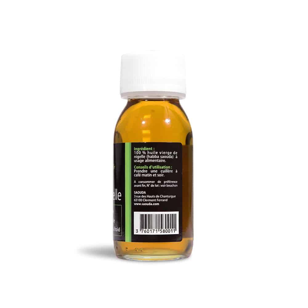 huile de nigelle bio - ingrédients