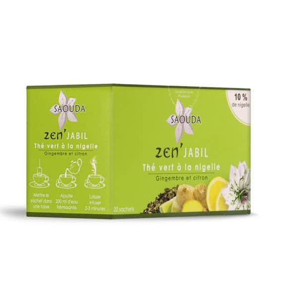 thé vert nigelle - gingembre citron