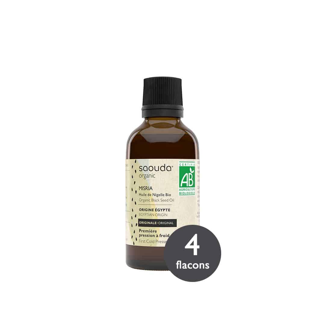 pack huile de nigelle misria 4 flacons