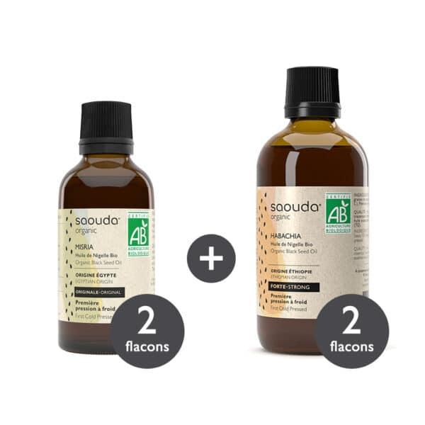 Pack huile Nigelle Bio Misria et Habachia x 4