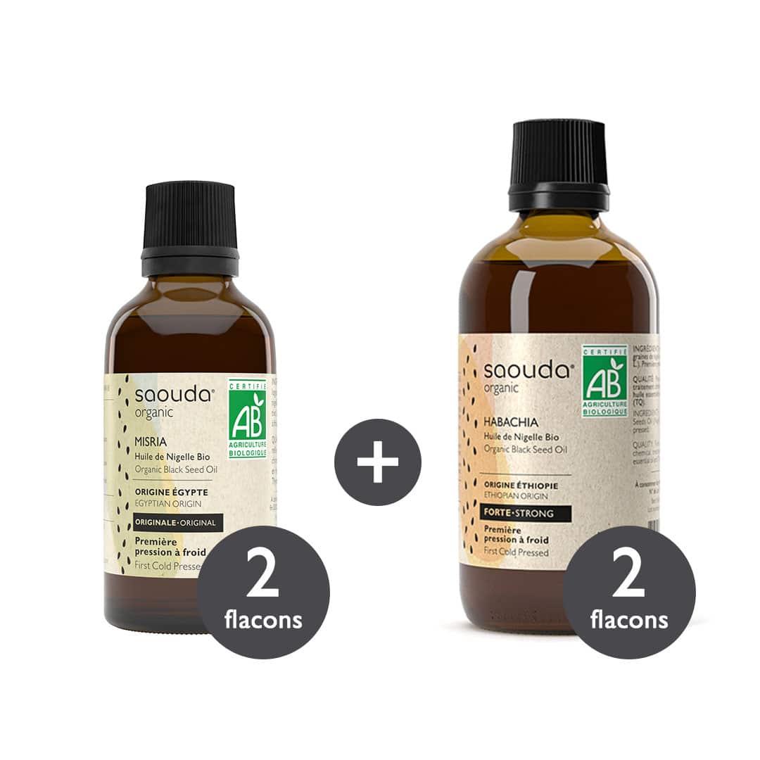 pack huile de nigelle misria et huile de nigelle habachia
