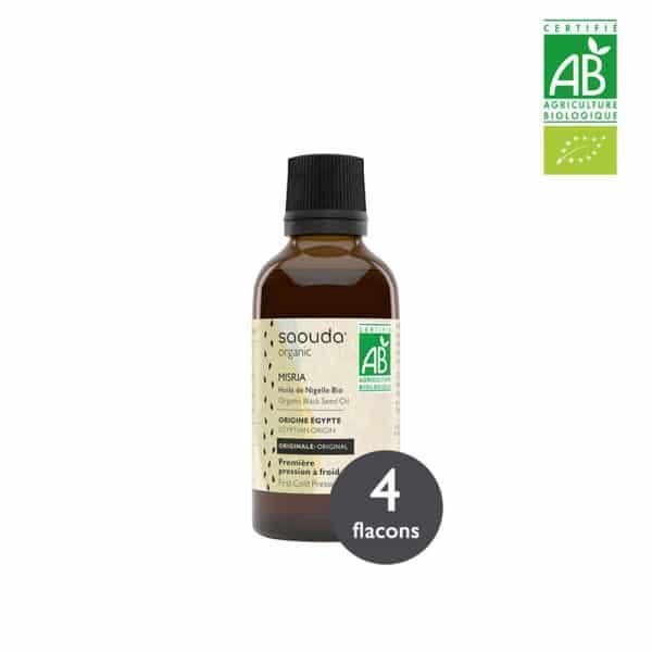 Pack huile de Nigelle Bio Misria 4 flacons