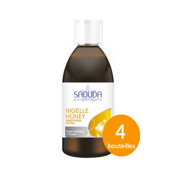 Pack sirop miel 4 bouteilles