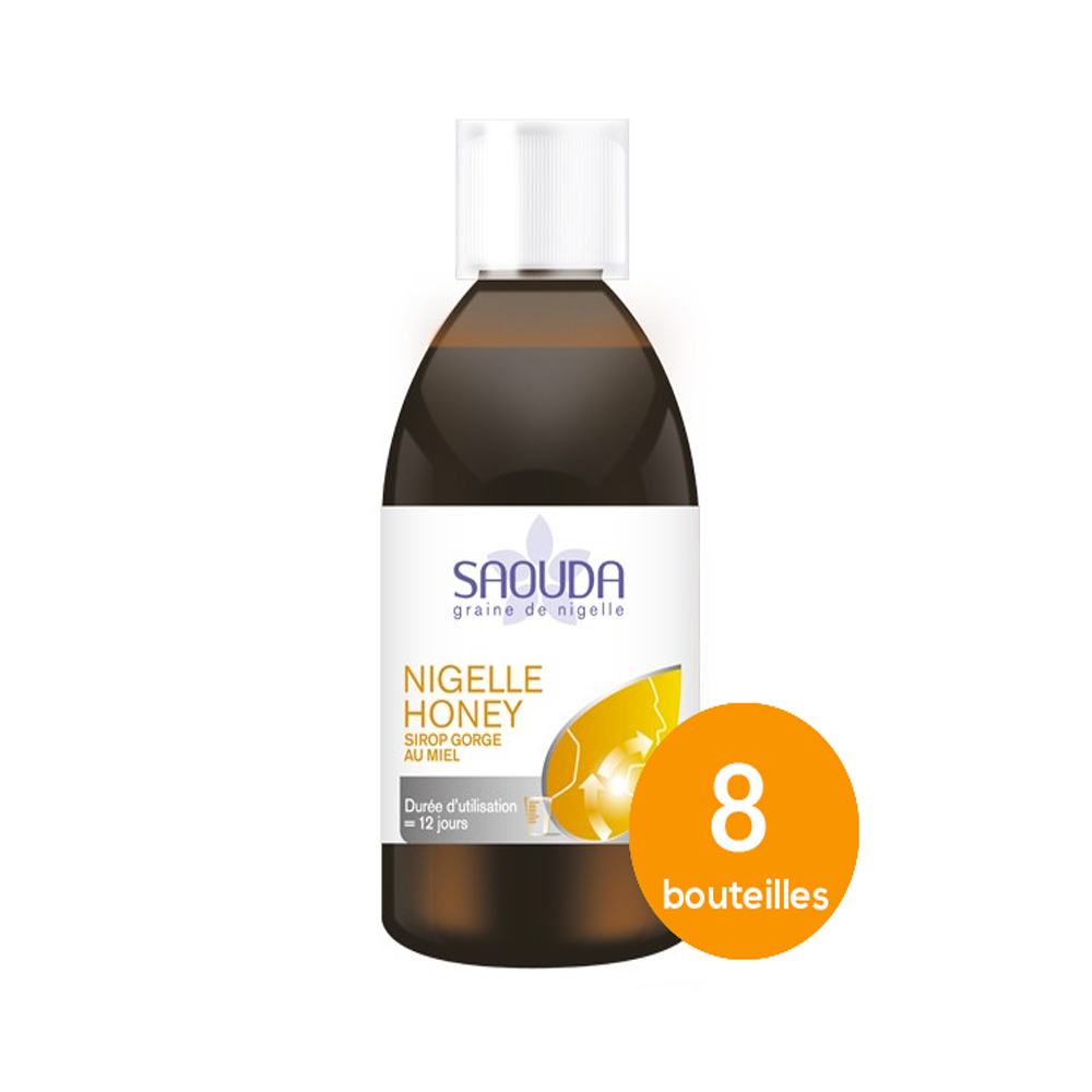 Pack sirop miel 8 bouteilles