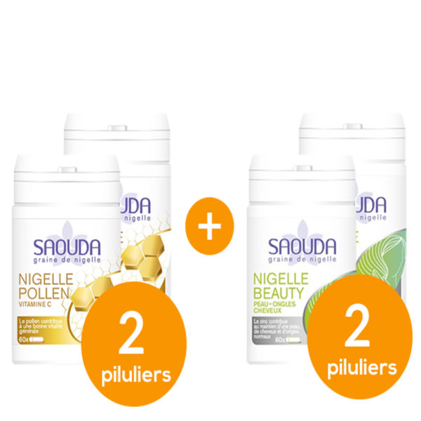 Pack Nigelle pollen - beauty x 4 piluliers mix