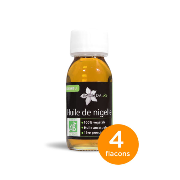 Pack huile de Nigelle Bio Egypte 4 flacons