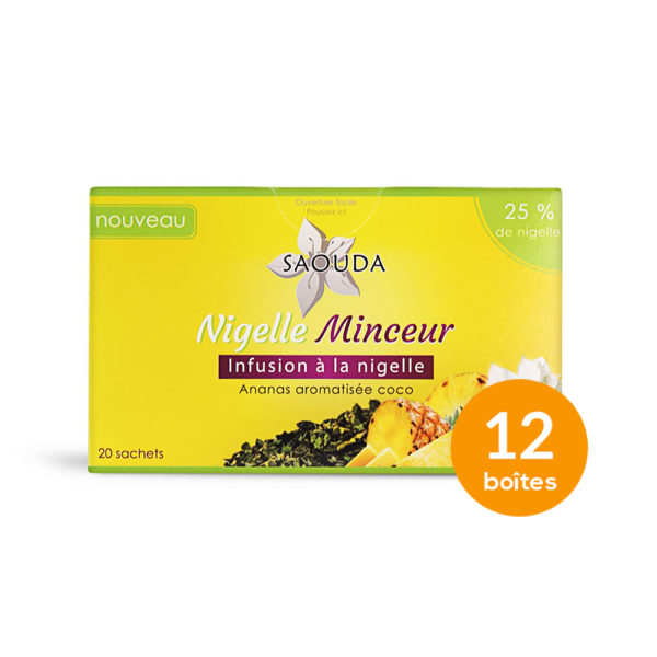 pack 12 boites infusion nigelle minceur