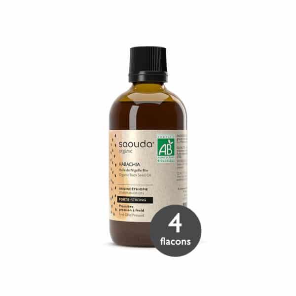 Pack huile de Nigelle Bio Habachia 4 flacons