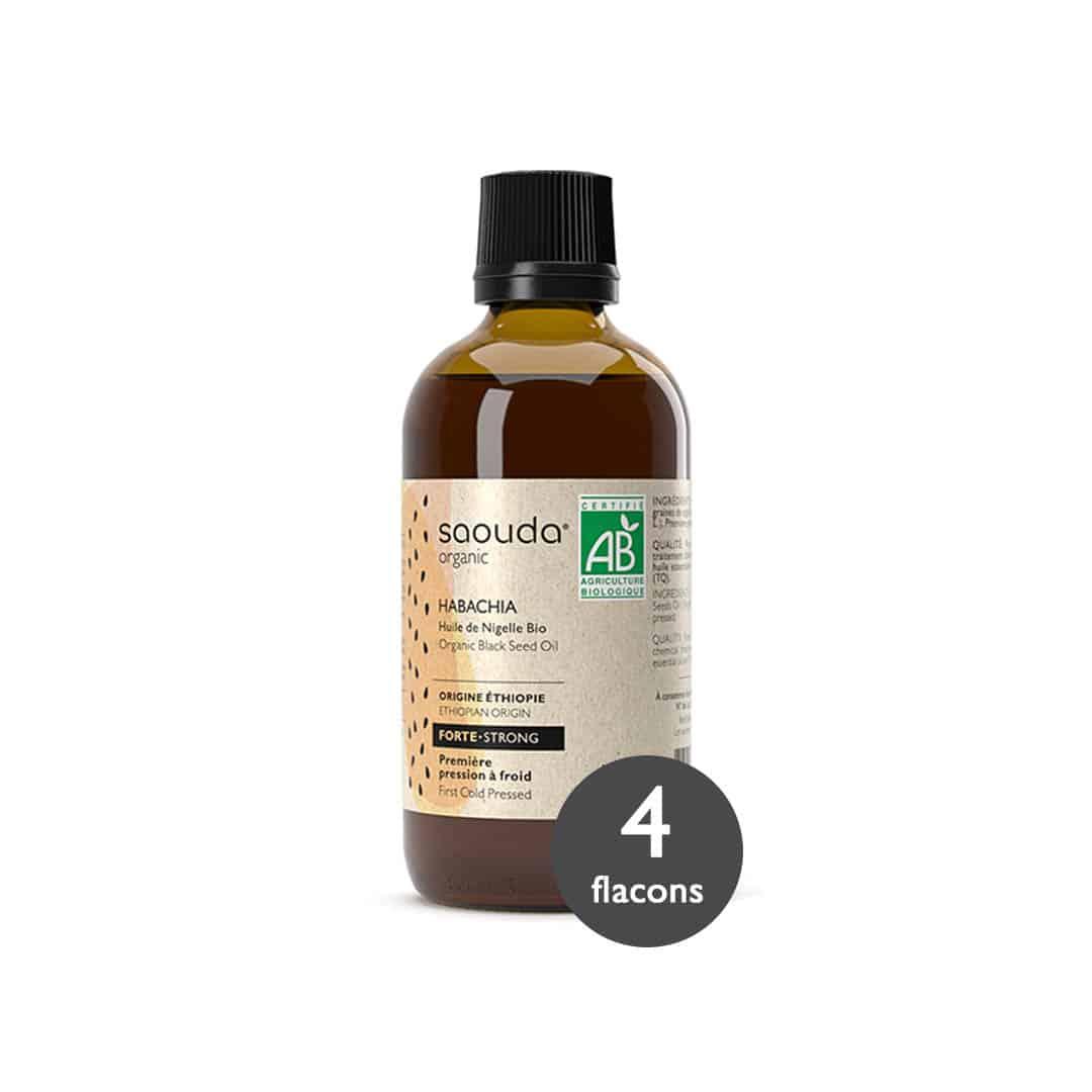 huile de nigelle bio Habachia 4 flacons