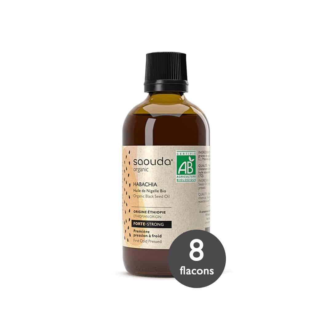 huile de nigelle bio Habachia de 8 flacons