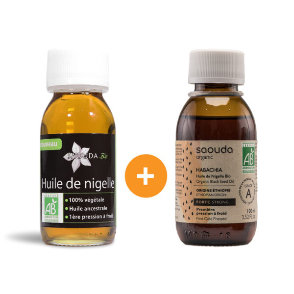 Pack duo huile Nigelle Bio Egypte et Habachia